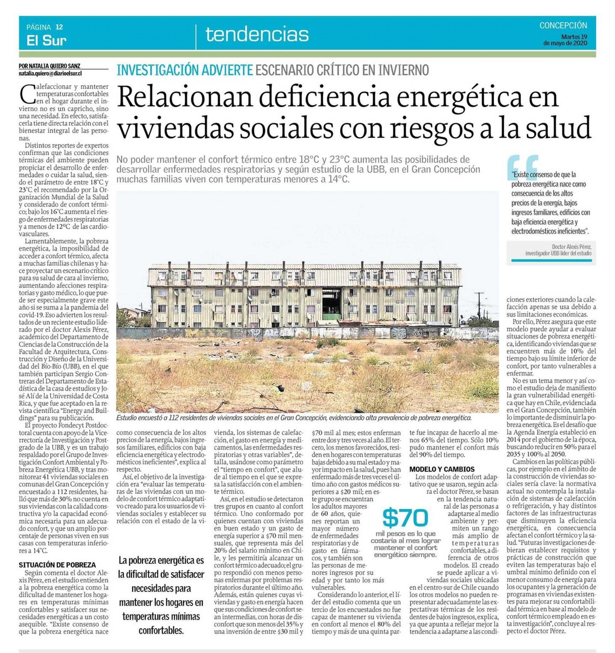 Artículo en el diario El Sur